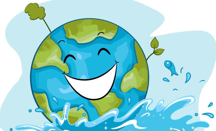 O planeta Terra apresenta uma grande quantidade de água, uma substância essencial à vida.