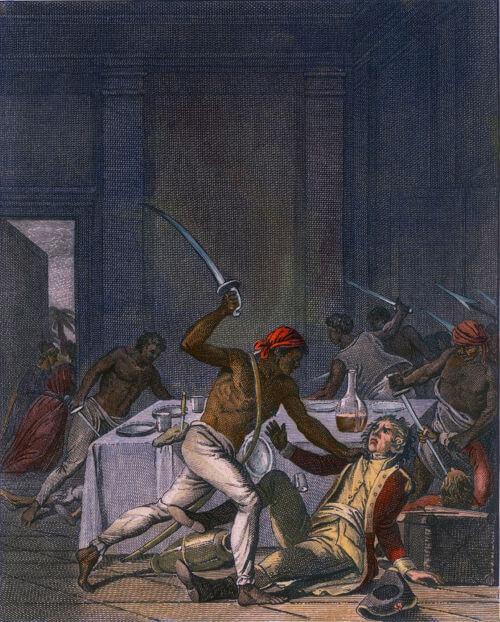 Muitas das revoltas violentas de escravos resultavam no assassinato de seus senhores e feitores.