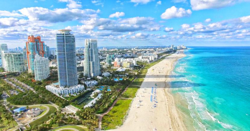Miami é uma das cidades mais visitadas nos Estados Unidos.
