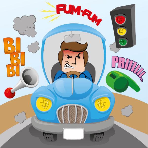 No trânsito, há uma enorme concentração de ruídos que provoca irritabilidade e mal-estar.