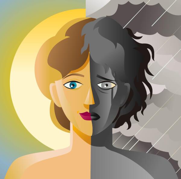 O excesso de noradrenalina está associado à mania, umas das formas típicas do transtorno bipolar.