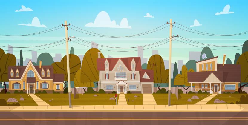 Bairros são subáreas das cidades e municípios formados por residências, comércios, indústrias.