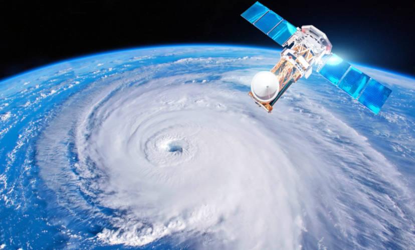 Um furacão representa uma circulação fechada de ventos, que formam um olho.