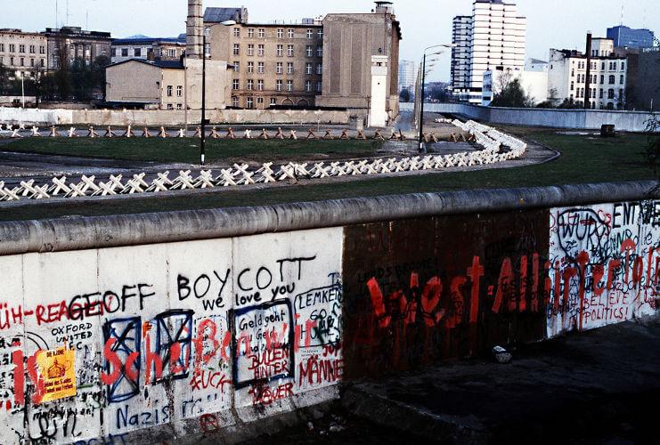Imagem do Muro de Berlim, que separava Berlim Oriental e Berlim Ocidental.