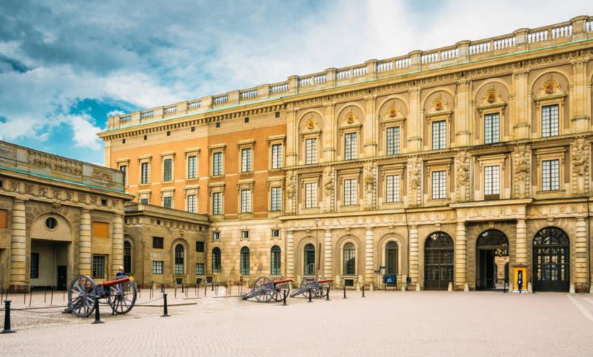 Palácio Real de Estocolmo localizado na Suécia.