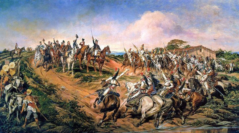 Pintura de Pedro América que retrata o Grito do Ipiranga realizado por d. Pedro em 7 de setembro de 1822. [1]