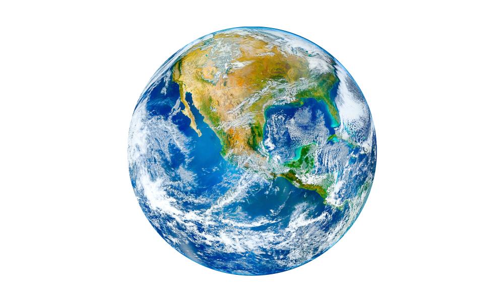 O planeta Terra possui 70% da sua superfície coberta por água.