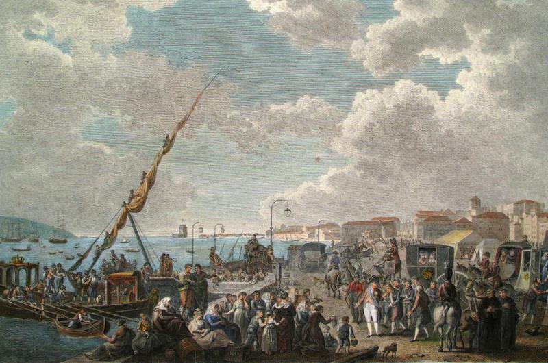 Entre 10 a 15 mil pessoas embarcaram na frota que transferiu a Corte portuguesa para o Brasil.
