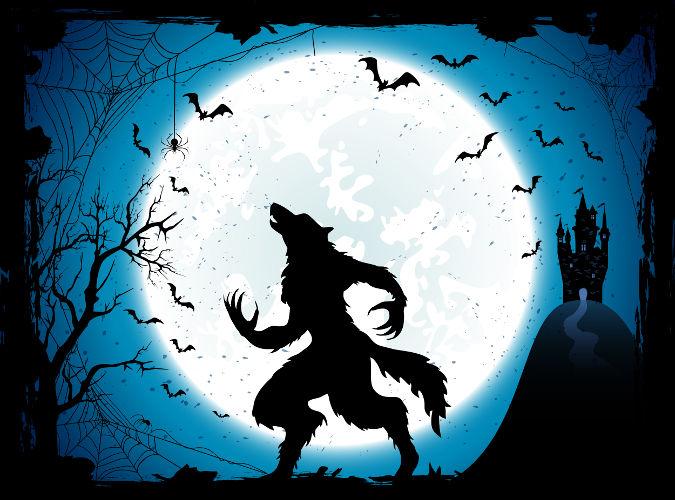 O lobisomem aparece nas noites de lua cheia procurando pessoas para matar.