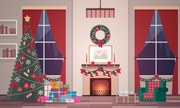 A decoração natalina é uma das práticas comuns no Natal.