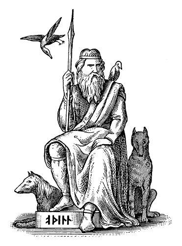 Nos países do norte da Europa, o papel de entregar presentes era relacionado com Odin.