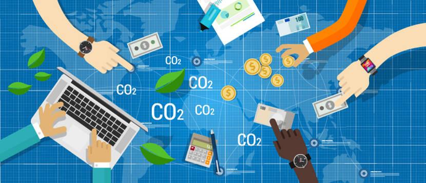 Os créditos de carbono são comercializados entre países que não reduziram suas emissões de dióxido de carbono e países que atingiram seus objetivos.