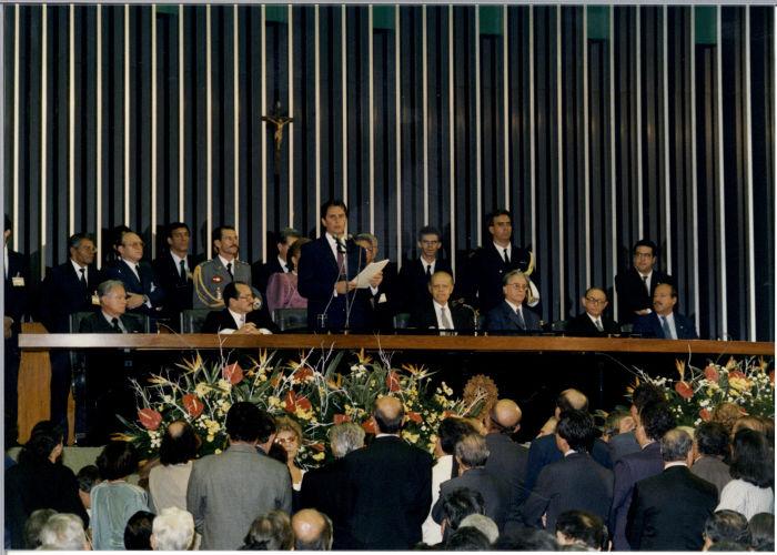 Em 15 de março de 1990, Collor e Itamar Franco tomaram posse como presidente e vice-presidente do Brasil, respectivamente.[1]