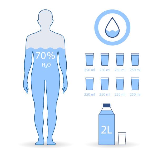 Nosso corpo possui, aproximadamente, 70% de água.
