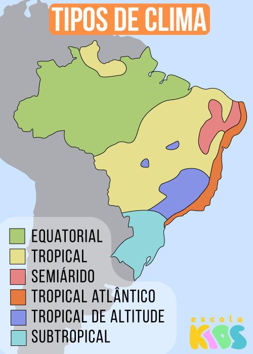 Tipos de Clima no Brasil. Características dos climas do Brasil