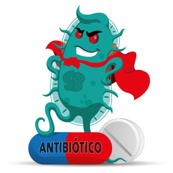 O uso inadequado de antibióticos causa o aumento de superbactérias.
