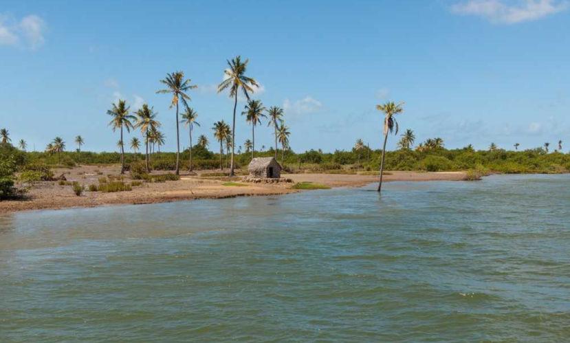 Foz do Rio São Francisco entre Alagoas e Sergipe.