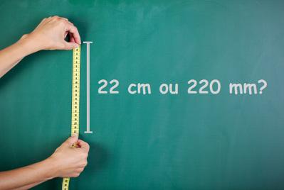 Qual dessas medidas está correta, 22 cm ou 220 mm?
