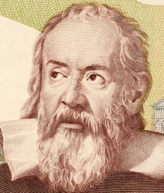 Ilustração de Galileu Galilei (1564-1642) *
