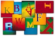As letras fazem parte do nosso alfabeto
