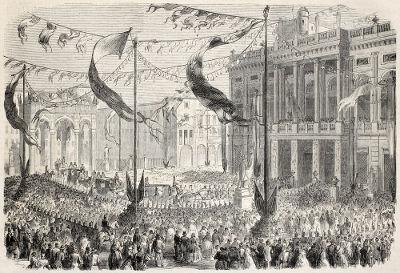 Entrada de Victor Emmanuel II no Palácio Madama, em Turin, 1860