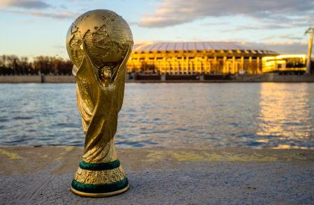 A Taça da Copa do Mundo é o objeto de desejo de todas as seleções que participam da competição *