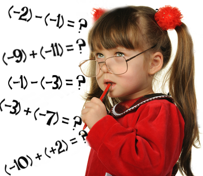 Aprenda a somar e a subtrair números negativos!