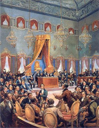 A Revolução Liberal do Porto exigiu que as Cortes portuguesas se reunissem