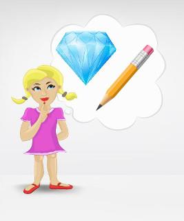 O que você, a grafite do lápis e o diamante têm em comum? Todos são constituídos de carbono!
