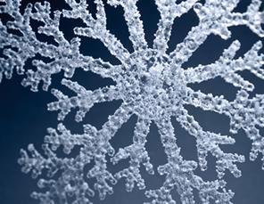 Floco de neve: cada ramo é semelhante ao floco inteiro