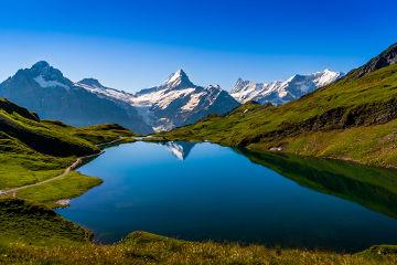 Lago glacial na Suíça