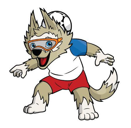 Zabivaka é o mascote da Copa do Mundo Rússia 2018