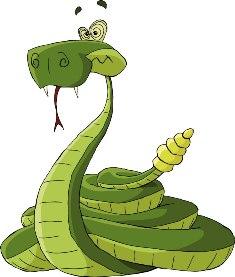 As serpentes injetam seu veneno através de suas presas