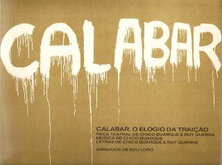 Cartaz da peça de Chico Buarque e Ruy Guerra, Calabar, que debate a traição de Calabar