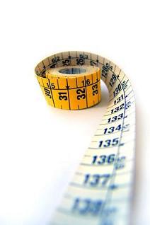 Números decimais nas unidades de medida.
