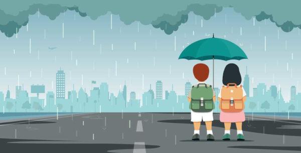 As chuvas podem ser frontais, convectivas e orográficas.