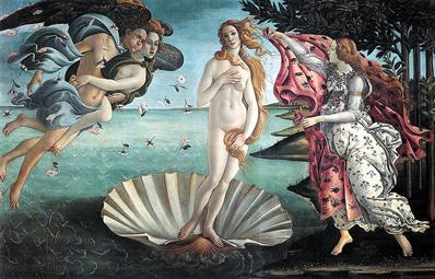 Botticelli foi um dos grandes pintores do século XV, com destaque para a obra Nascimento de Vênus