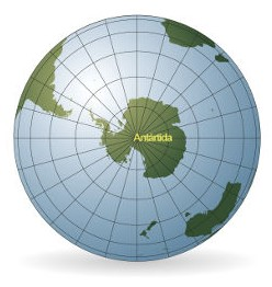 A Antártida está localizada no extremo sul do Planeta Terra e, até o século XVIII, não tinha sido descoberta