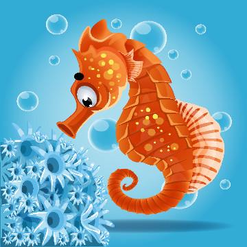 O cavalo-marinho é um peixe ósseo