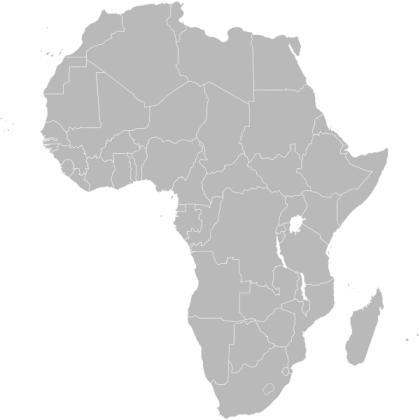 Mapa do continente africano