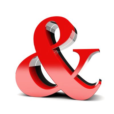 Muito utilizado em nomes comerciais e em nomes de pessoas jurídicas, o ampersand é uma contração que pode assumir a função de conjunção aditiva