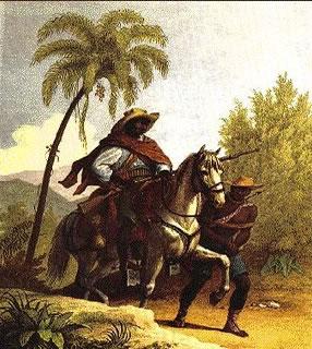 Um capitão do mato retratado por Johann Moritz Rugendas (1802-1858)