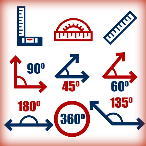 Os ângulos são medidos em graus (º)
