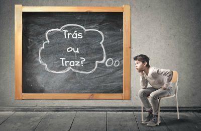 Trás ou traz são palavras homófonas. Por serem parecidas, exigem o dobro de cuidado na hora de escrever!