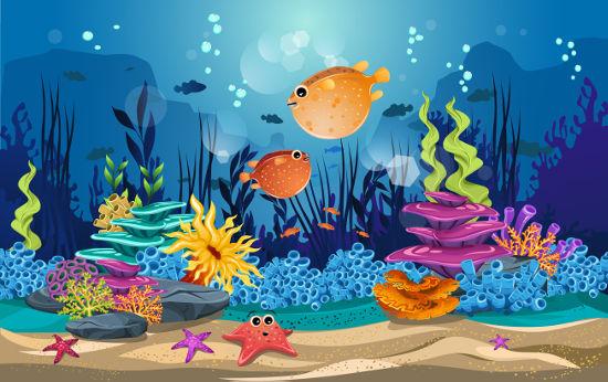 Recifes de corais são um ecossistema rico em biodiversidade e abrigam várias espécies marinhas.