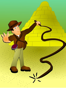 Indiana Jones, o mito do historiador. Apesar de não ser uma grande aventura, o trabalho do historiador pode ser bem estimulante
