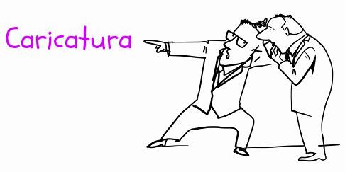 A caricatura é um desenho cujo objetivo é exagerar as características mais marcantes do ser ou objeto caricaturado
