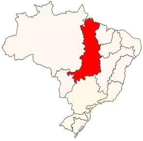 Localização da Bacia do Tocantins-Araguaia