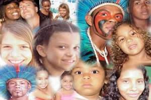 Representantes da população humana do Brasil.