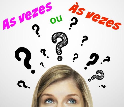 """As expressões 'as vezes' e 'às vezes' têm sentidos diferentes. A primeira indica """"as ocasiões"""", e a segunda, """"de vez em quando"""""""